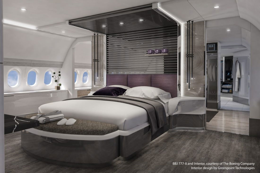 BBJ 777X Lotus Master Bedroom Aft