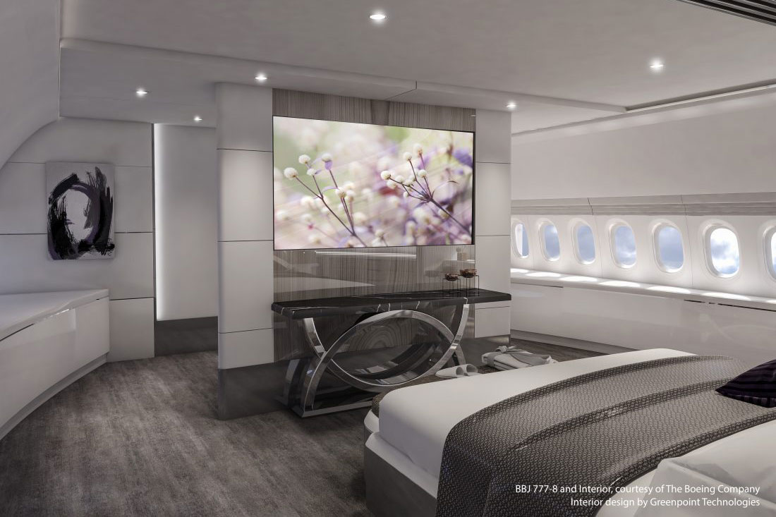 BBJ 777X Lotus Master Bedroom Fwd